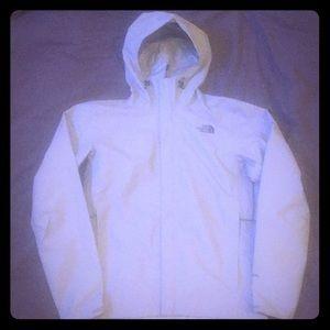 The North Face Rain Jacket/Wind Breaker Light Gray